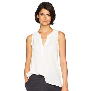 JOIE Aruna Caridad silk split neck sleeveless top